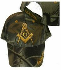 FREEMASON Mason EMBROIDERED ADJUSTABLE HAT camo masonic lodge camouflage cap