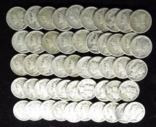 1920 D MERCURY DIMES GOOD - FINE MOST VG CIRCULATED FULL ROLL 50 SILVER COINS