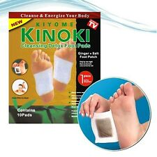 10 PCS GOLD Premium Kinoki Detox Foot Pads Organic Herbal Cleansing Patches