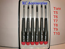 6 Pc Di Precisione Torx Screwdriver Set T5 16 T7 T8 T9 T10