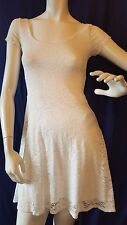 Abercrombie & Fitch Dress Flower Lace White Size M