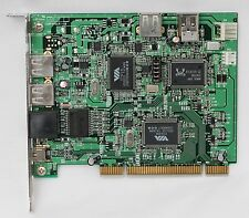 USB 2.0 Firewire IEEE1394 and RealTek 8110 Gigabit Ethernet All In One PCI Card