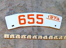 Free Shipping: 2-SIDED GRENADA License Plate Tag MOTORCYCLE 1974 PORCELAIN.