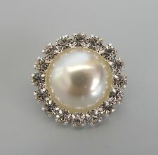 Pearl Rhinestone Tie/Stock/Lapel Pin/Brooch for Show Hunting/Hacking Jacket NEW