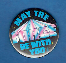 ORIGINAL OLD  STAR WARS  1977   MAY THE FORCE BE WITH YOU   TIN PIN BADGE