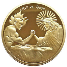 In God We Trust Good vs Evil Christian Faith Challenge Coin - Religious Gift
