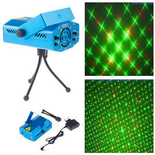 Mini Projector DJ Disco Light Stage R&G Party Laser Lighting Show UK/AU/US Plug