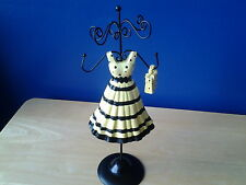 Yellow Dress With Small Bag Ceramic& Metal Jewelry Organizers Stand Holder
