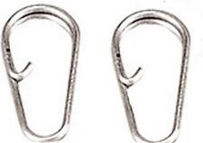 10 DELUXE SPLIT RING CLIPS LINKS 4 EASY CHANGE OF LEADS PERKS RIGS SEA FISHING