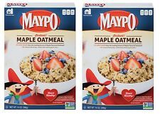 2 Boxes MAYPO Instant Whole Grain Maple Oatmeal 14oz. Hot Breakfast Cereal