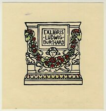 Exlibris Bookplate * ANONYMUS * Holzschnitt Woodcut