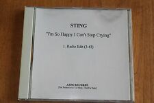 The Police Sting - USA PromoCD / I'm So Happy I Cant Stop - radio Edit