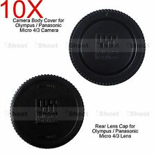 10x M4/3 Rear Lens Cap +Micro 4/3 Camera Body Cover for Olympus PEN EP5 EPL1 EPL