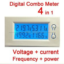 AC 110v 220v 100A LCD Voltage current power Frequency Digital Combo Panel Meter