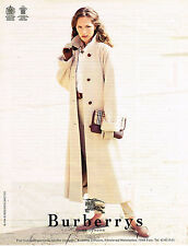 PUBLICITE ADVERTISING 035  1994  BURBERRYS OF LONDON   manteau trench