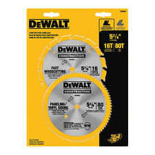 "Dewalt DW9064 2Pc 5 3/8"" Circular Saw Blade Set"