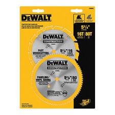 """Dewalt DW9064 2Pc 5 3/8"""" Circular Saw Blade Set"""