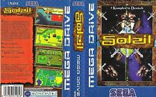 Soleil Sega Mega Drive PAL Replacement Box Art Case Insert Cover Scan Reproduct
