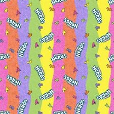 Nestle Fun Size Rainbow Nerds Candy Cotton Fabric Fat Quarter