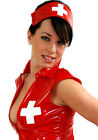RED NURSE*LOUIMANE*Naughty &Sexy,PVC UNIFORM COSTUME DRESS OUTFIT in sizes 8-22