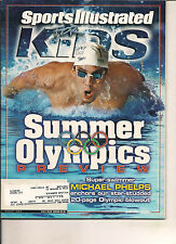 MICHAEL PHELPS & POSTER OLYMPICS SPORTS ILLUSTRATED FOR KIDS 2004 TRADE CARDS