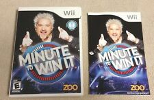Nintendo Wii MINUTE TO WIN IT Case, Cover Art & Instructions ONLY