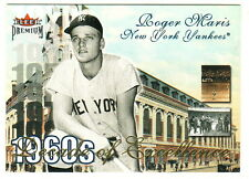 2001 Fleer Premium Decades of Excellence #21 ROGER MARIS New York Yankees