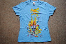 FICTION PLANE ROBOTS LADIES SKINNY T SHIRT MEDIUM NEW OFFICIAL STING SPARKS