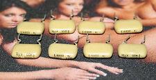 8 capacitors Mullard Mustard Philips 6.8nf 6,8nf 6.8 nf 6800pf 400V Capacitor