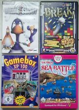 Break + gamebox xp 100 freitzeitspiele + birdie shoot + sea battle collection pc