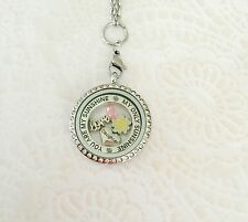 Memory Locket Set Daughter You Are My Sunshine. Stainless Steel Locket.