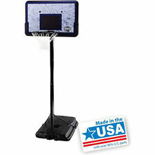 "Pro Court 44"" Portable Adjustable Basketball Hoop System Goal Backboard Outdoor"