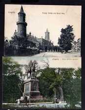 110660 2 AK Liegnitz Schlesien um 1905 Kaiser Wilhelm Denkmal Schloß Neuer Weg 1