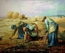 "Gobelin Tapestry Needlepoint Kit ""The Gleaners"" embroidery printed canvas 561"