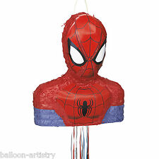"16 ""MARVEL'S SPIDER-MAN SUPEREROI PERSONAGGIO forma Pull String Pinata Party Game"