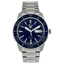 Seiko 5 Automatic Dark Blue Dial Stainless Steel Mens Watch SNZH53