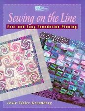 Quilt Pattern Book - SEWING ON THE LINE, fast & easy foundation piecing