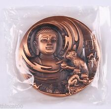 China 2016 80mm Copper Medal - Buddha and Monkey from Shenyang Mint