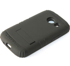 Samsung Galaxy Ace Style G310 - BLACK Hard & Soft Rubber Hybrid Armor Cover Case