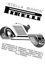 PUBBLICITA' GOMME PNEUNATICI PIRELLI STELLA BIANCA AUTO CORSA GARA BASSI 1932
