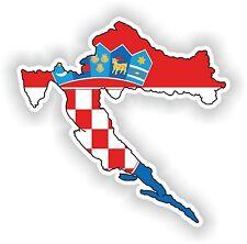 Croatia Kroatien LandKarte Flagge Aufkleber Silhouette Motorrad Auto Helm Laptop