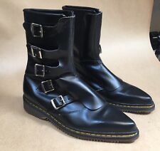 Dr Martens Black Pointy Toe Boots Woman's 8 Punk Rock Vintage