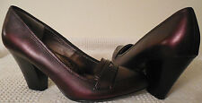 SOFFT CLASSIC HIGH HEELS PUMPS SHOES BURGUNDY LEATHER LOAFERS SIZE 9 EXCELLENT!!