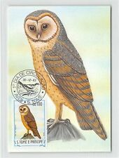 S. TOME MK 1983 VÖGEL SCHLEIEREULE EULE OWL BIRDS CARTE MAXIMUM CARD MC CM m302