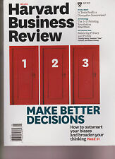 HARVARD BUSINESS REVIEW MAGAZINE MAY 2015, MAKE BETTER DECISIONS.