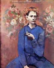 """Boy with a Pipe"" Pablo Picasso Reproduction in Oil, 40""x33"""