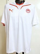 OLYMPIAKOS WHITE TRAINING SHIRT BY PUMA ADULTS SIZE XL BRAND NEW WITH TAGS