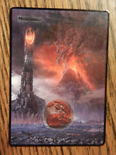 MTG Altered art The Hobbit, Lord of the Rings Eye of Sauron Mountain