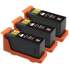 3 Pack 100XL 100 XL Black Ink Cartridges for Lexmark 14N1068 Printer