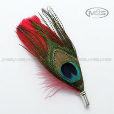 Buy 2 Get 1 Free Peacock Swan Feather Wedding Suit Mens Corsage Lapel Pin Brooch